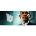 President obama and babelverse logo