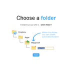Choose folder for limited dropbox access