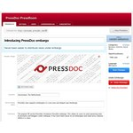 Pressdoc back-end edit pressdoc under embargo view